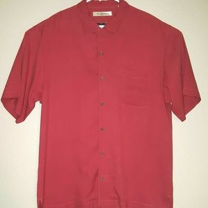 Tommy Bahama Mens Size L Red Button Down Shirt